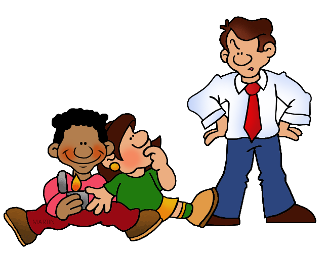 Family and friends clip. People clipart fire