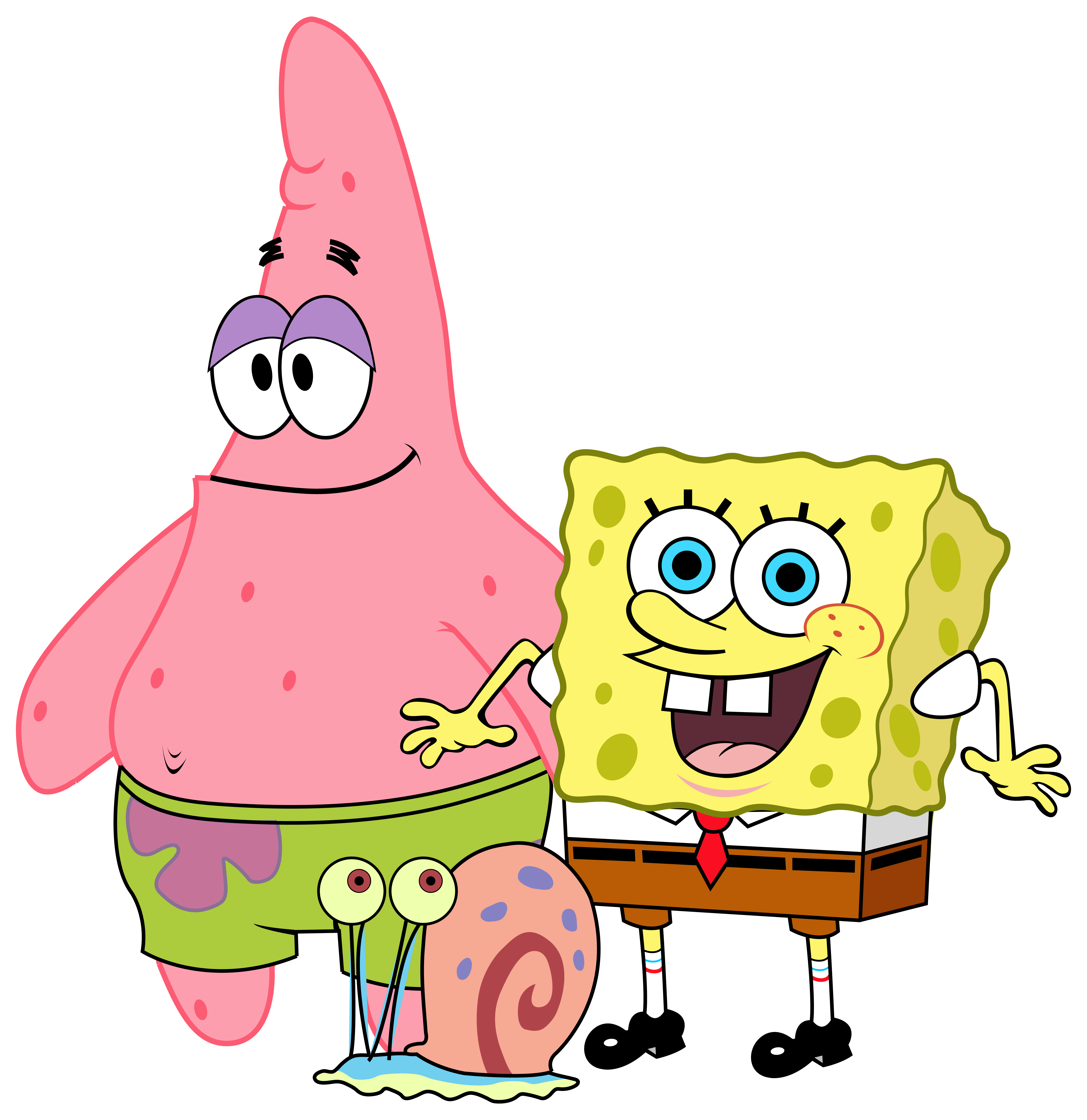 Phone clipart friend. Spongebob and friends png