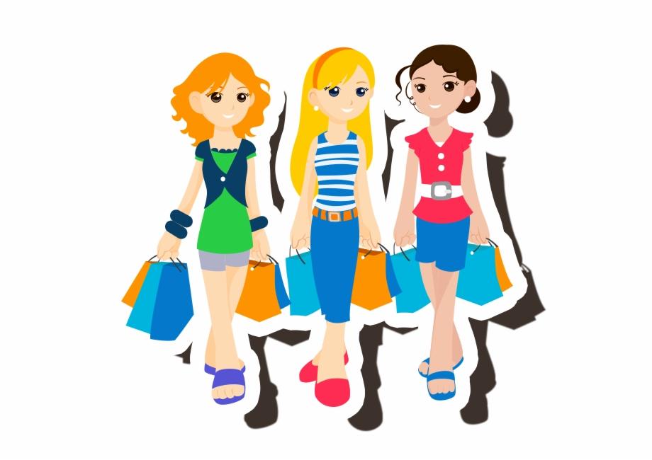 Friendship clipart meeting friend. Jpg library teen shopping
