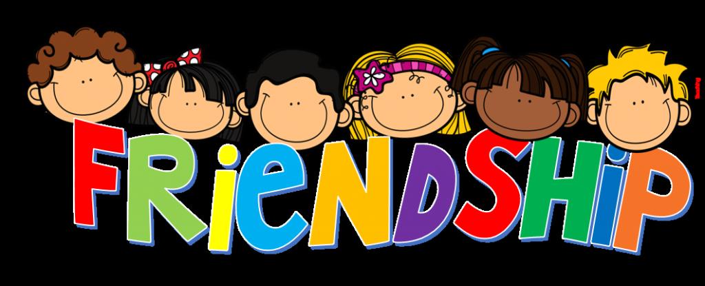 friends written huge. Friendship clipart real friend