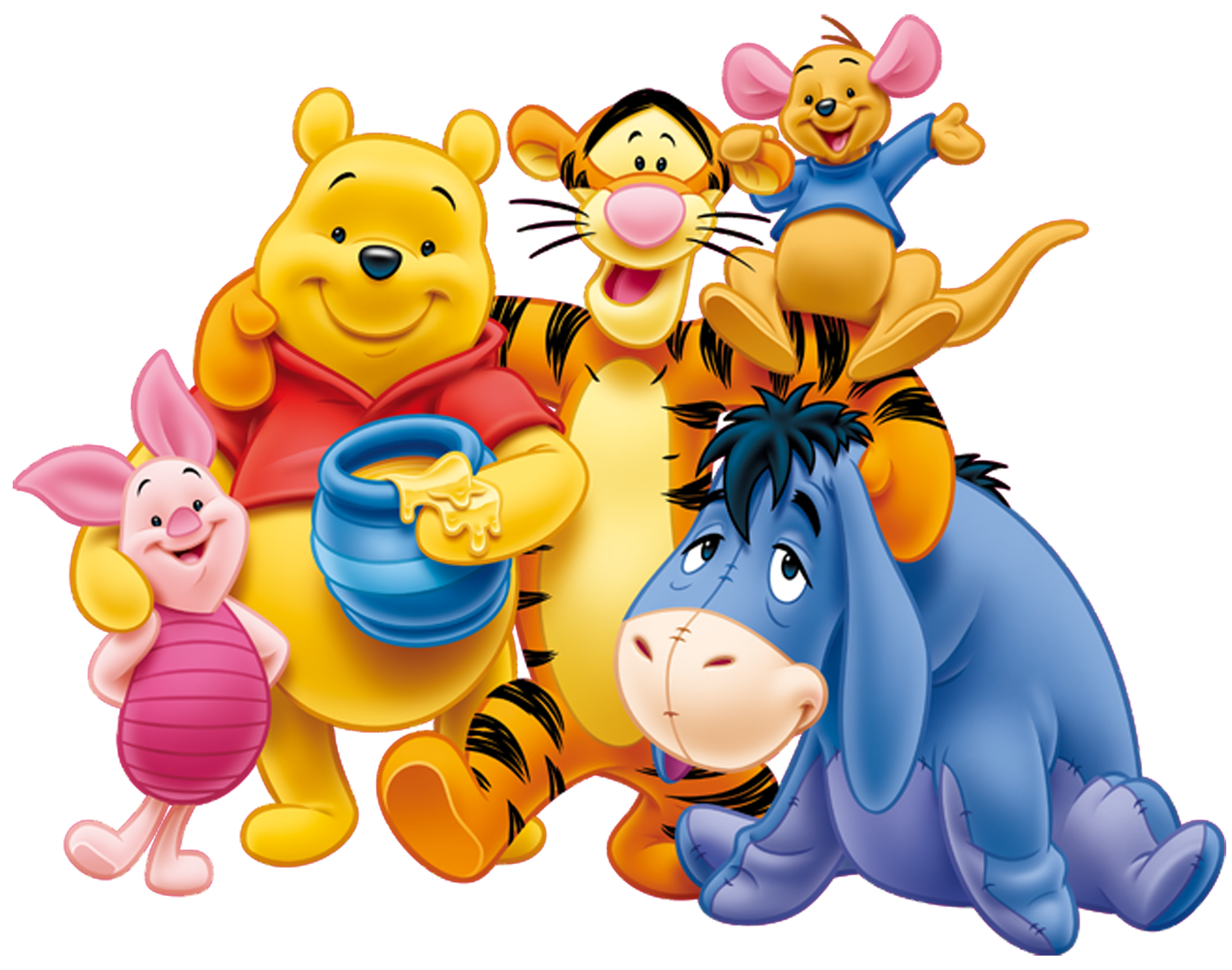 Clipart friends transparent background. Winnie the pooh and