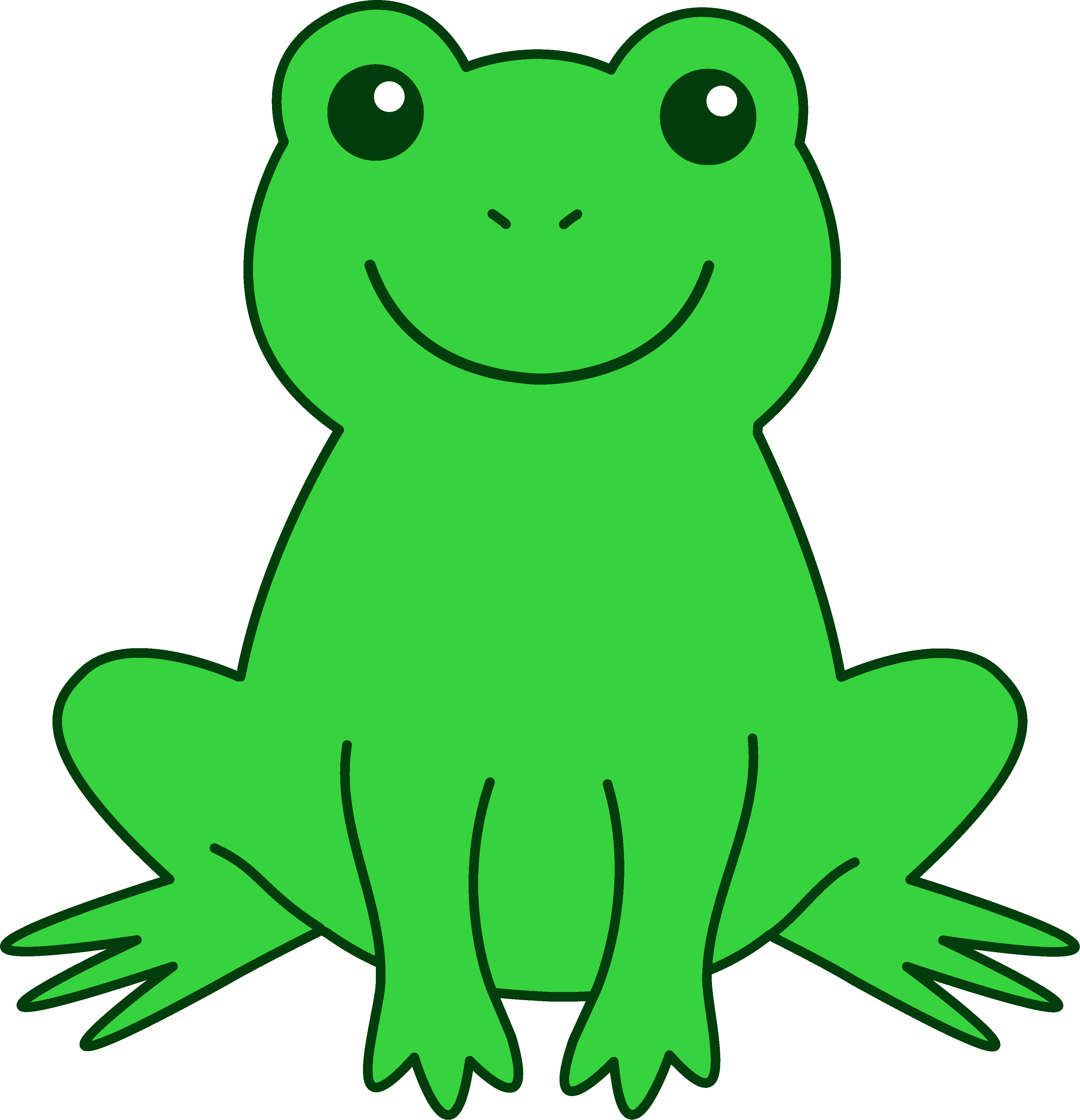 Free cute clip art. Clipart frog