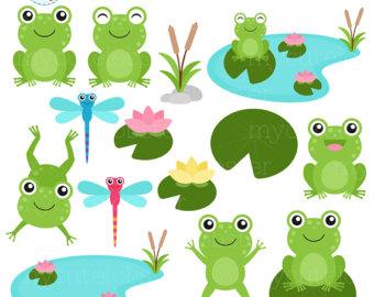 Etsy . Clipart frog beach