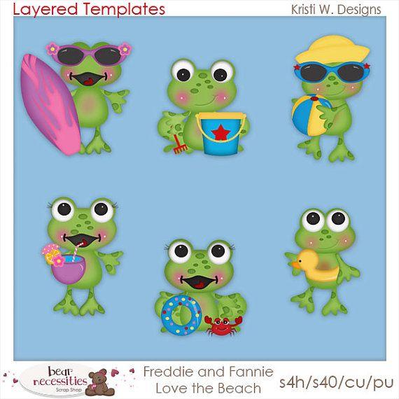 Freddie fannie frogs summer. Clipart frog beach