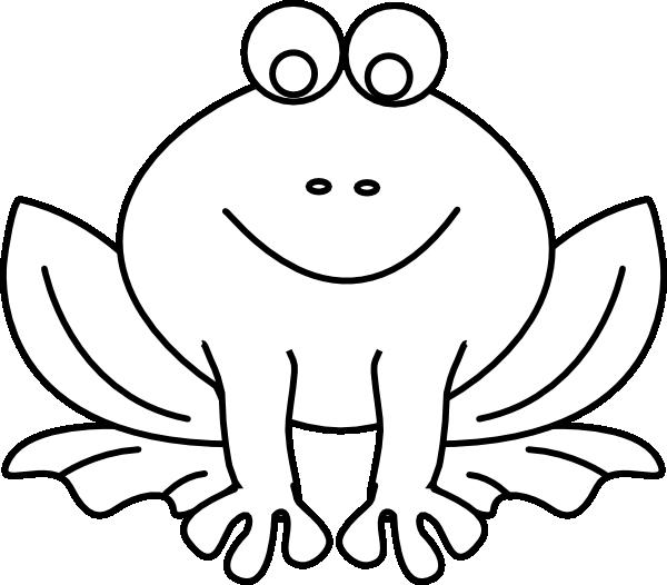 Footprint clipart frog. Outline clip art at