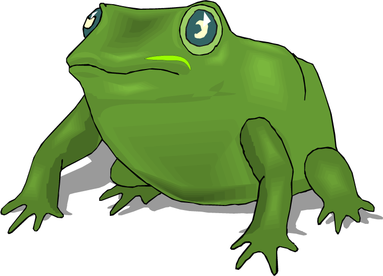 Free frog large green. Frogs clipart body