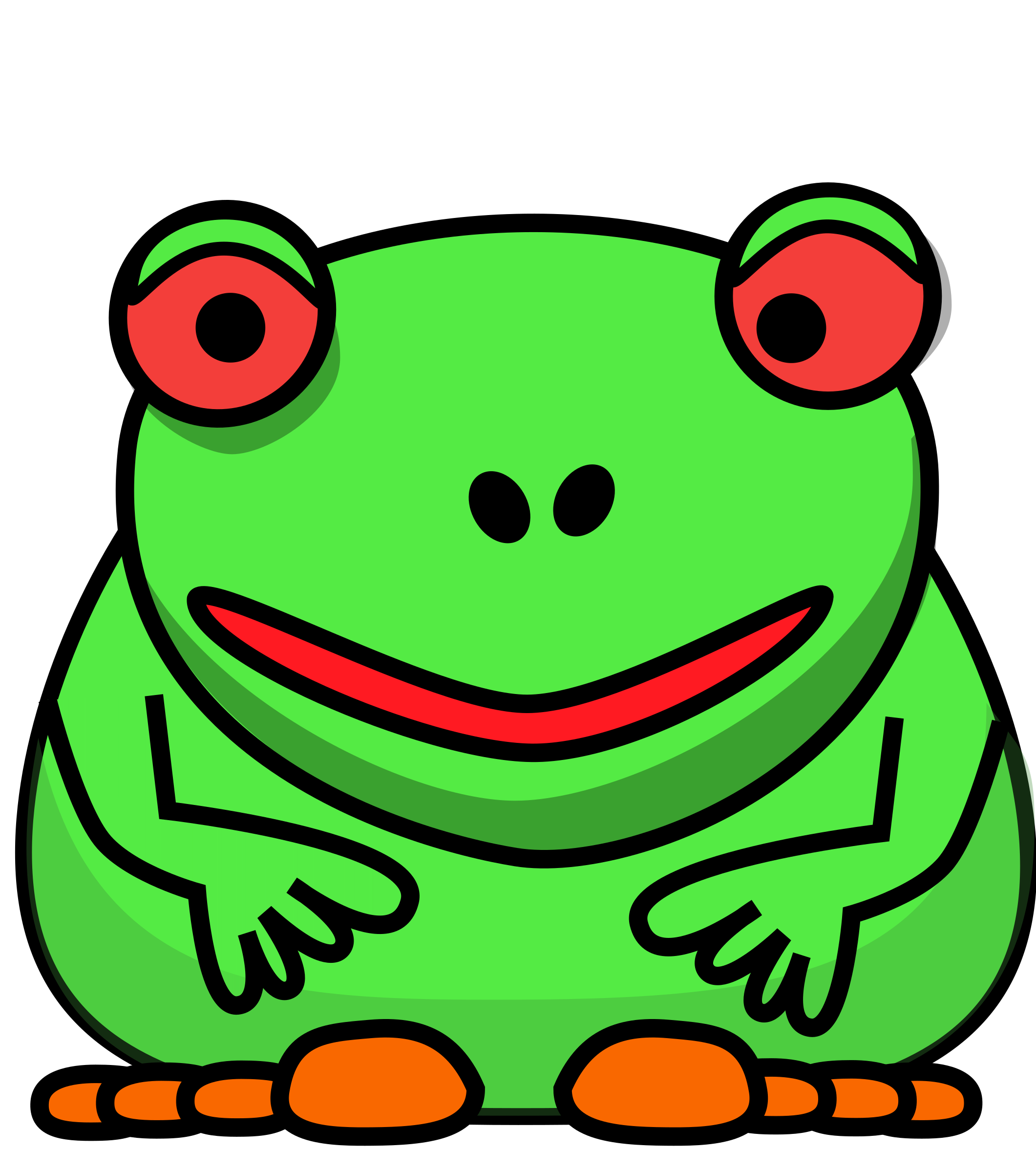 . Frog clipart bullfrog