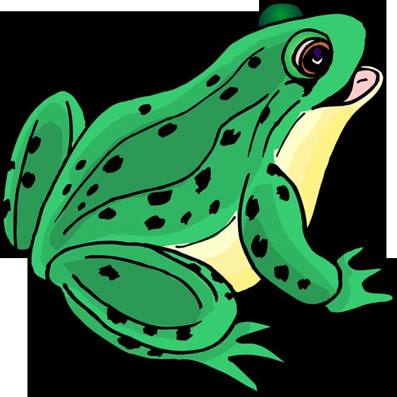 Clipart frog bullfrog. Happy clip art panda