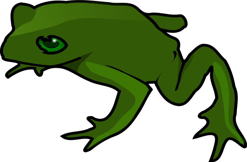 Scientist clipart frog. Free simple green clip