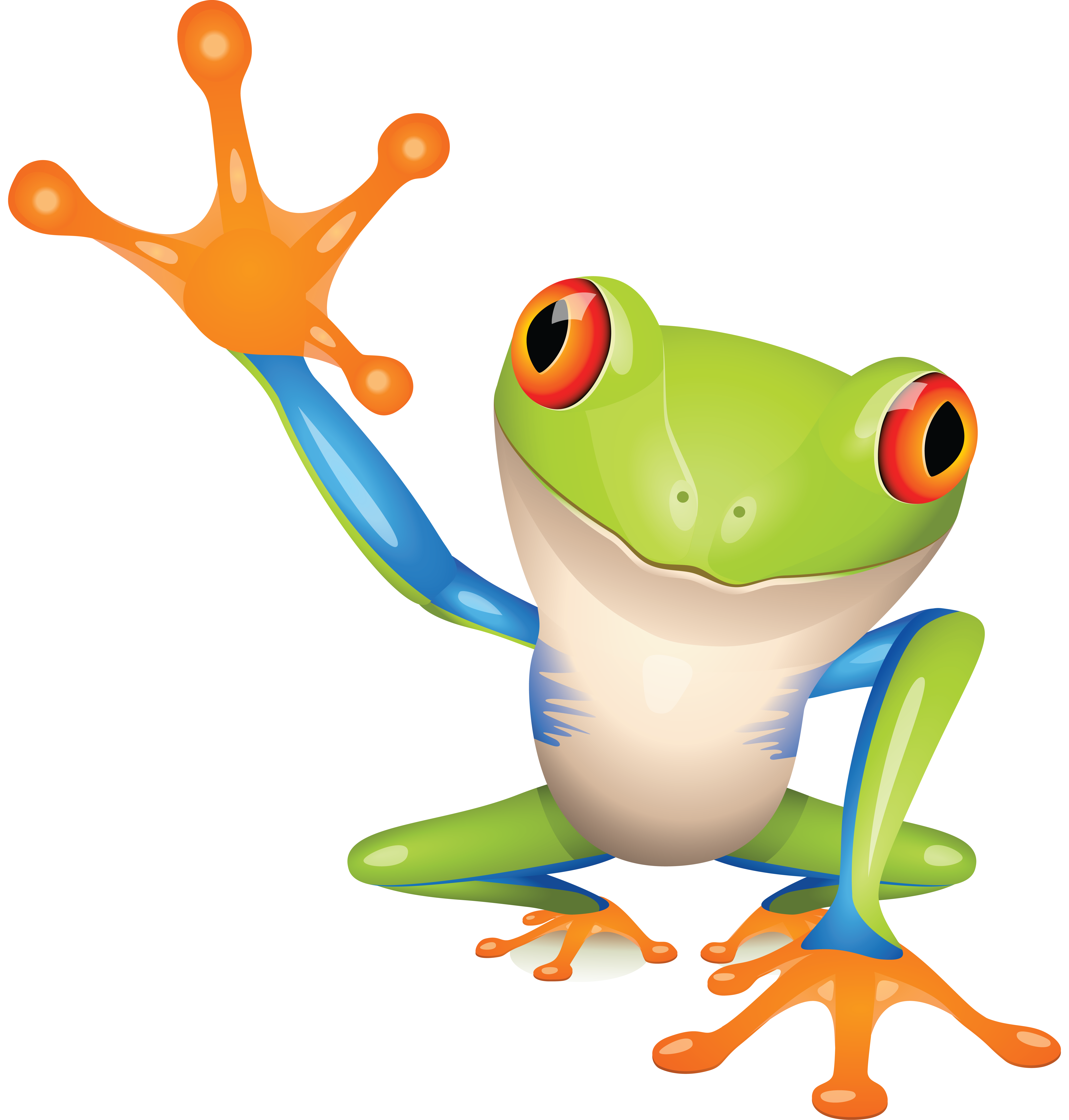 frog clipart clear background