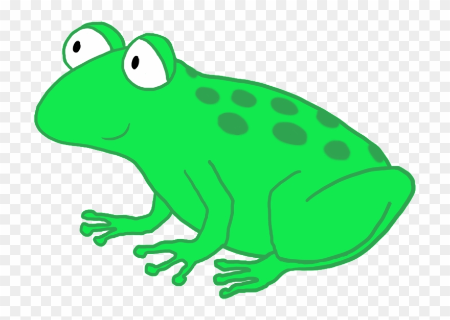 Frogs clipart clear background. Funny cartoon frog drawing