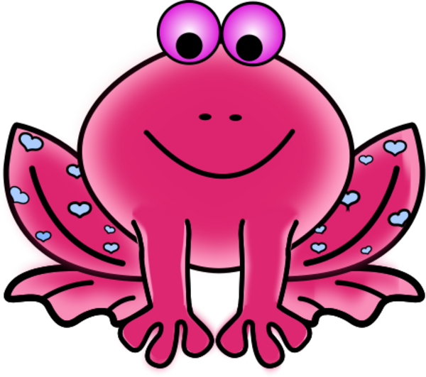 Frogs clipart red. Pink frog clipartix