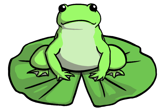 On lily pad craft. Toad clipart angry frog