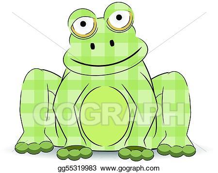 Clipart frog craft. Eps illustration green cartoon