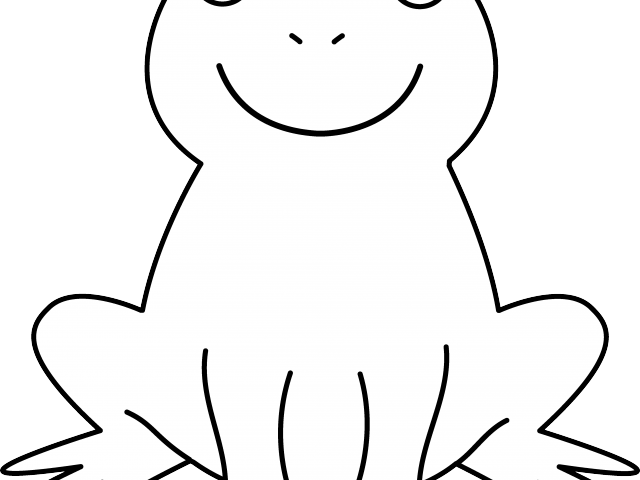 Outline of a frog. Frogs clipart simple