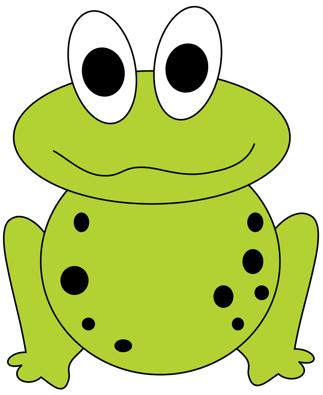 frogs clipart easy