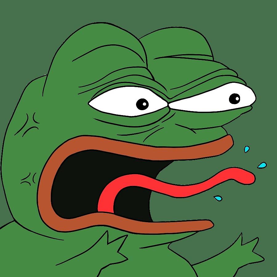 Pepe the transparent png. Emoji clipart frog