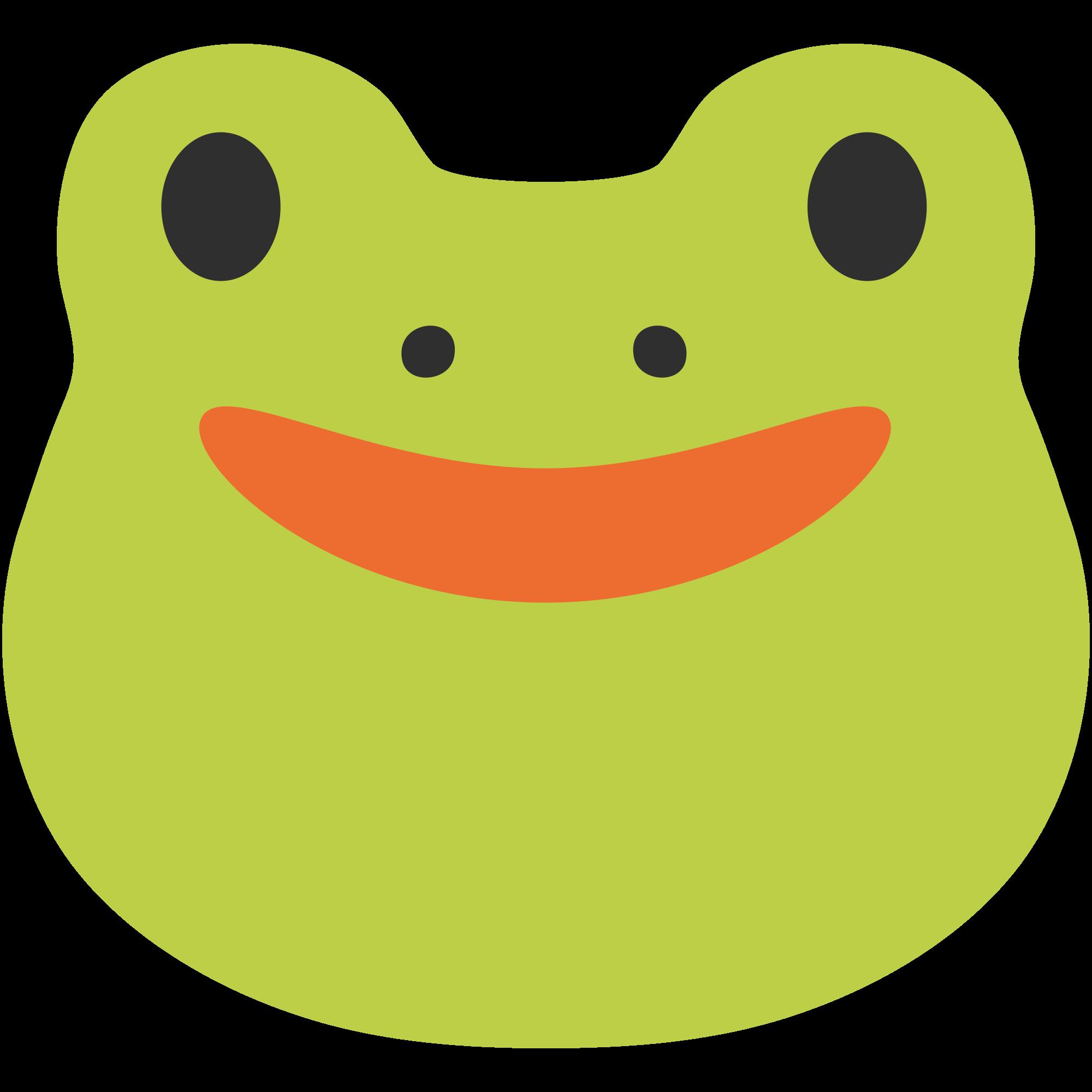 Emoji clipart frog. File u f svg