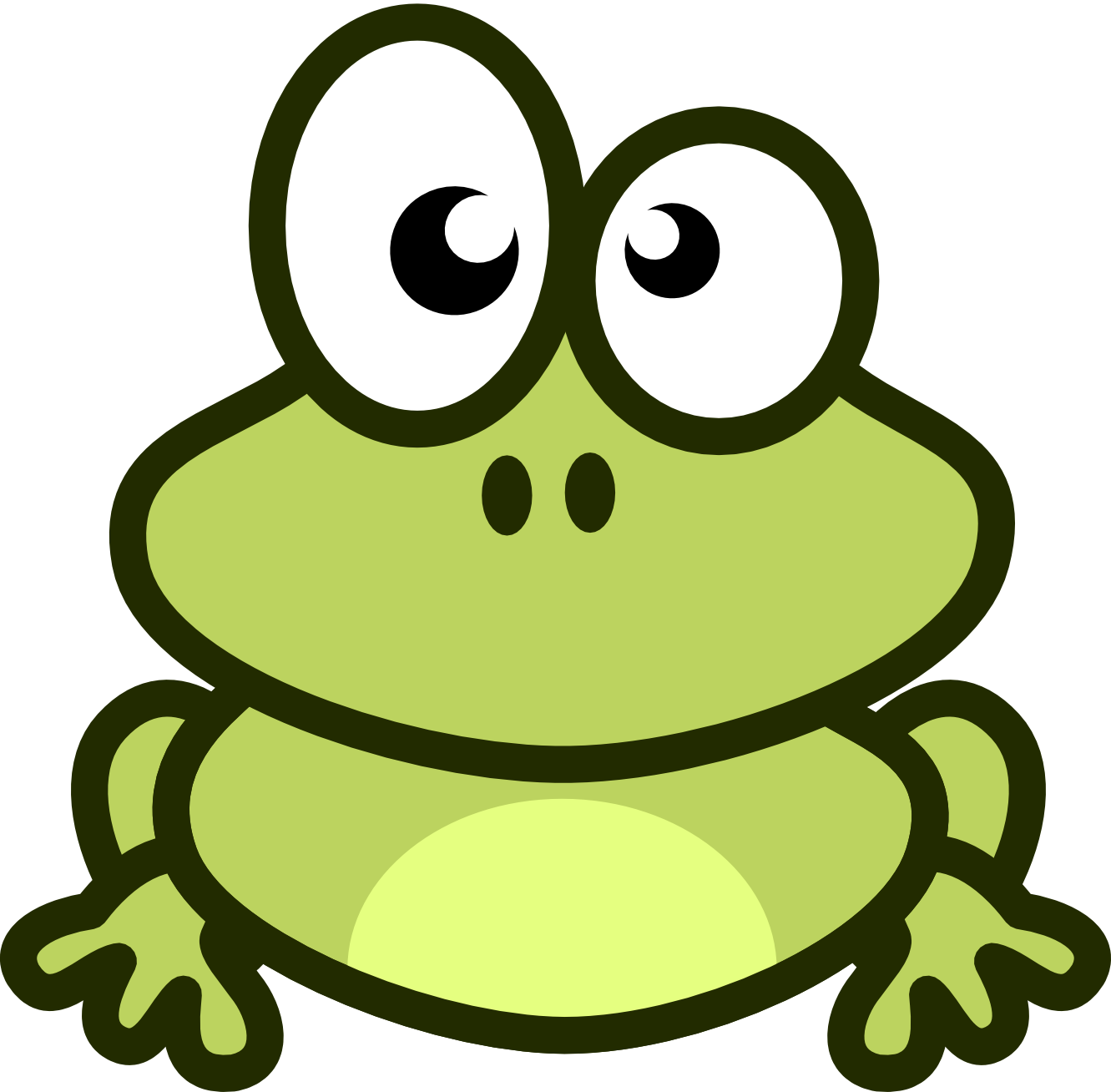frog clipart kid
