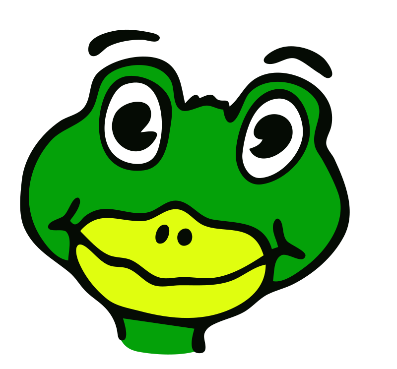 Drawn frog medium image. Toad clipart face