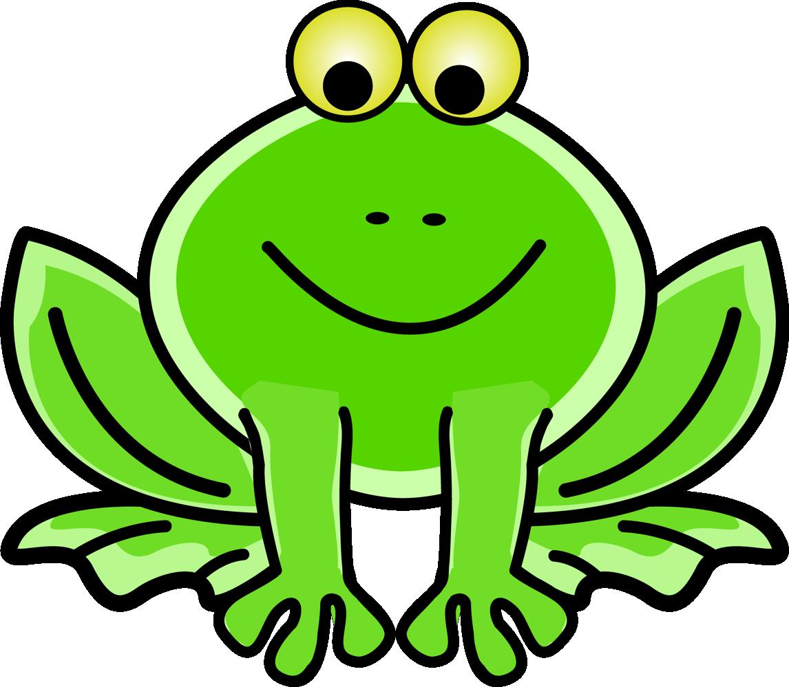 Funny free design download. Outline clipart frog