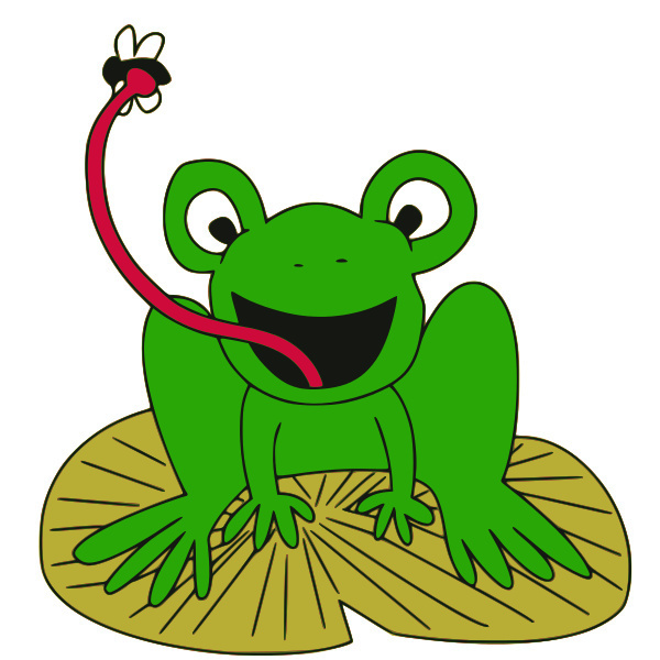 Clipart frog fly. Catching cliparting com