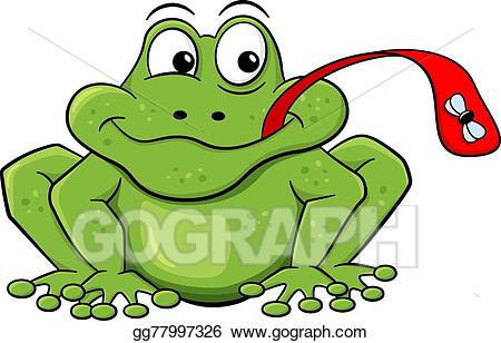 Clipart frog fly. Eps illustration catches with