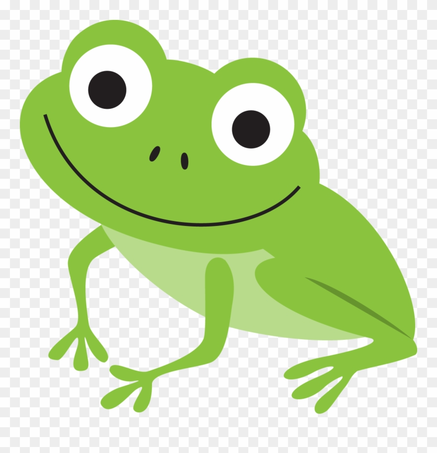 Frogs clipart green frog. B illustration pond life