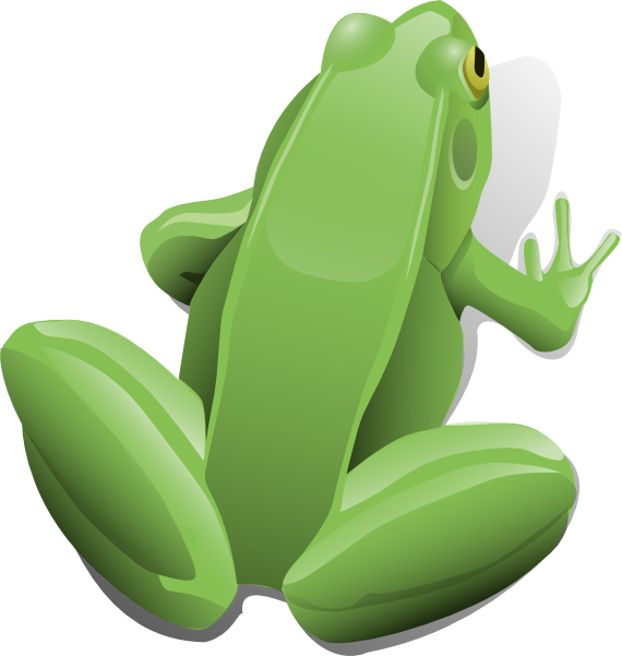 Toad clipart animated. Sitting frog clip art
