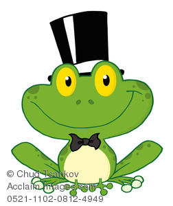Image of a smiling. Frogs clipart hat