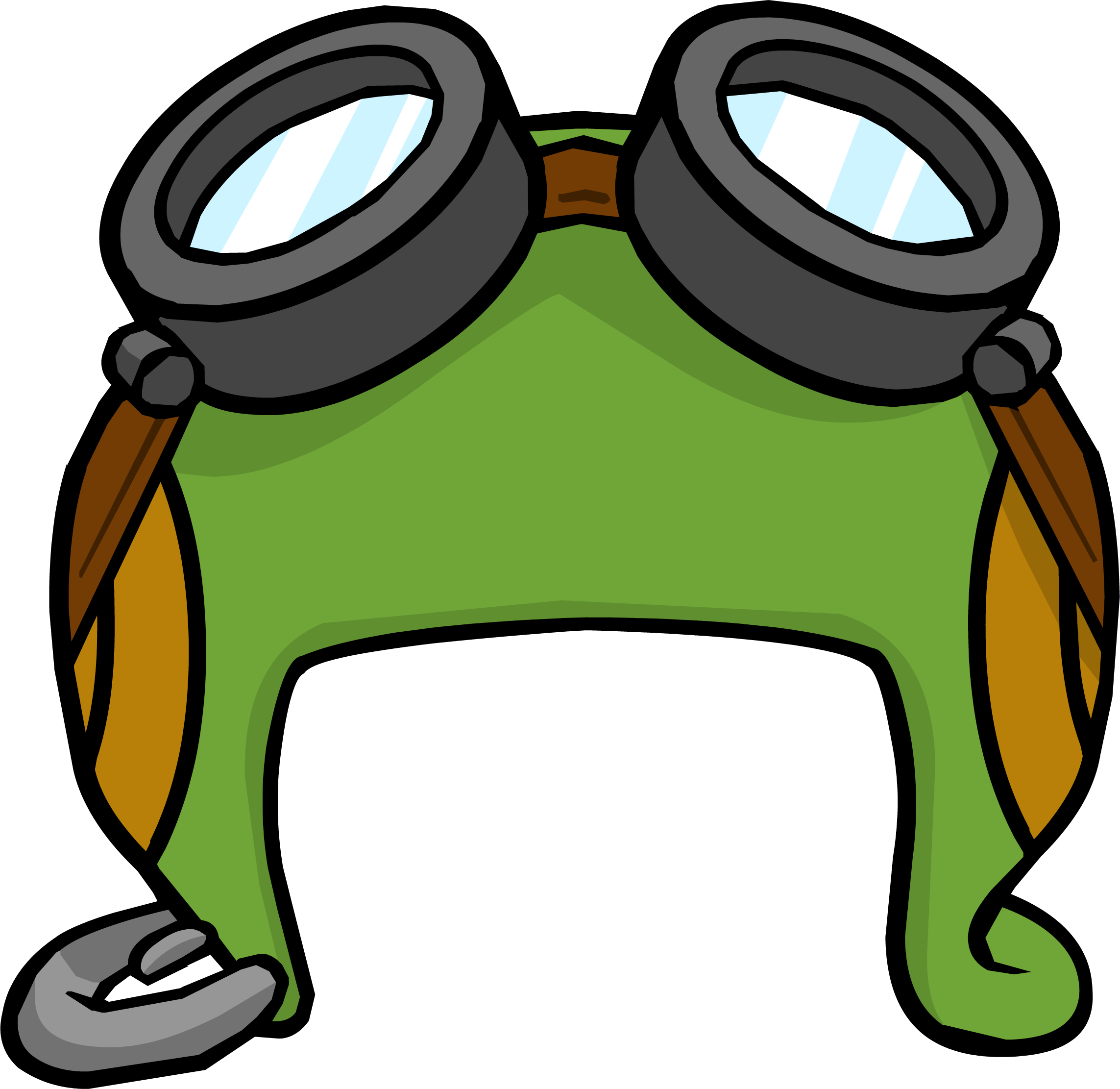 Goggles clipart airplane. Aviator hat club penguin