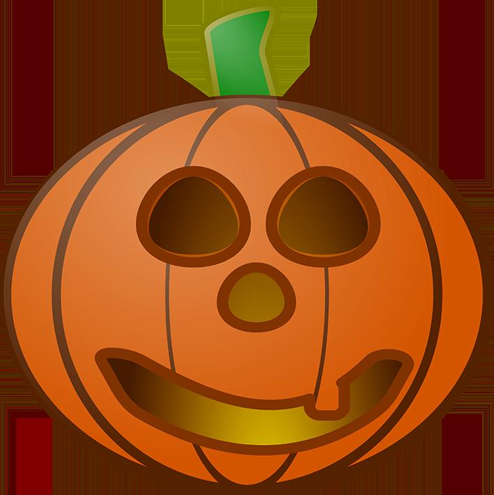Halloween mean looking head. Clipart pumpkin happy birthday