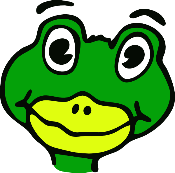 Cartoon frog clip art. Frogs clipart head