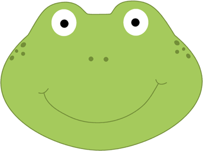 Frog clip art image. Frogs clipart head