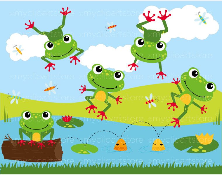 Lake clipart frog pond. Home animals bugs clip