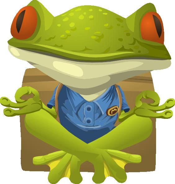 Clipart frog home. Inhabitants npc yoga clip