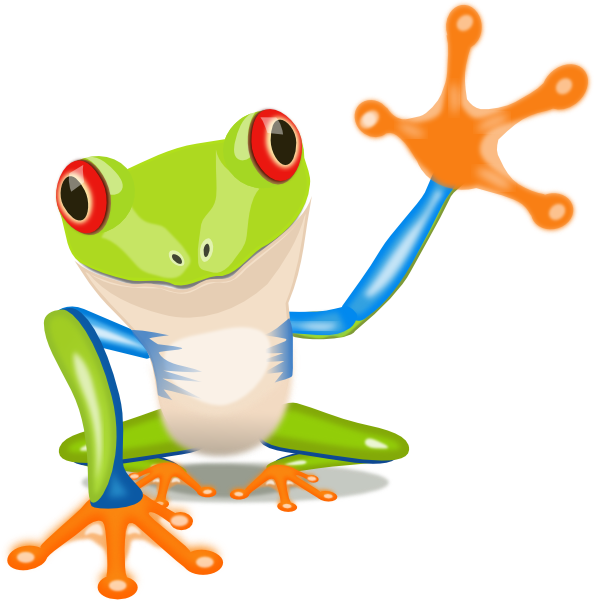 Frogs clipart sign. Lg frog clip art