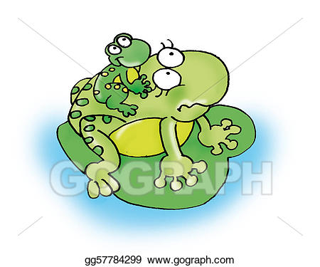 Frogs clipart mother. Stock illustration frog illustrations