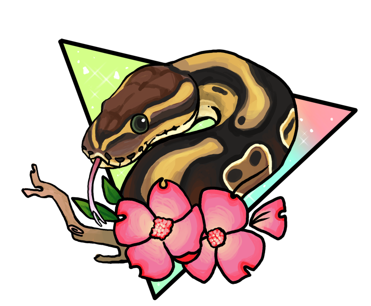 Magical ball python by. Clipart mom border