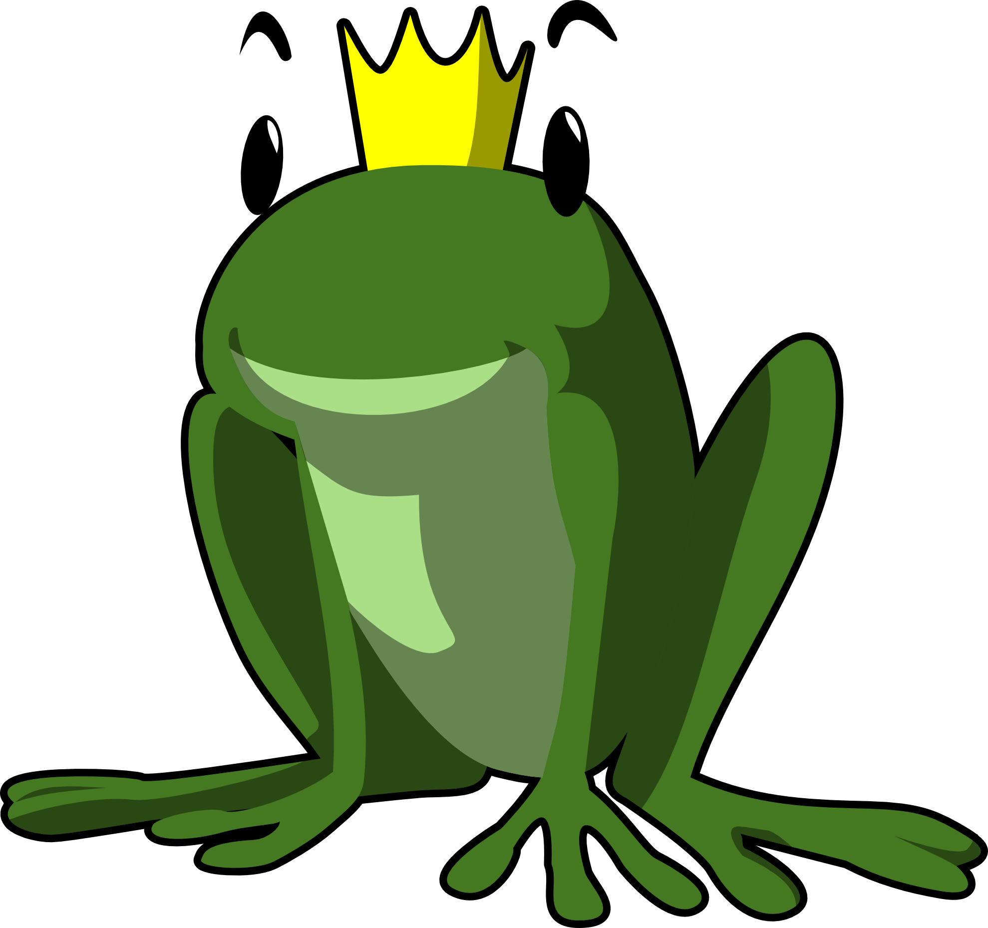 Frogs clipart body. Cute frog prince panda