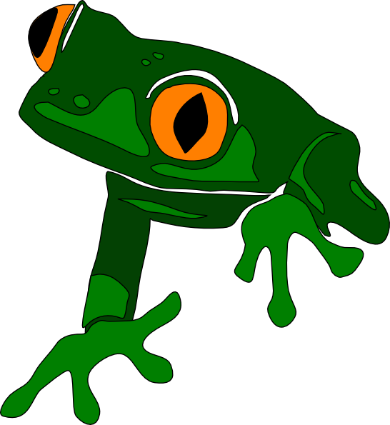 Frogs clipart outline. Frog simple frot clip