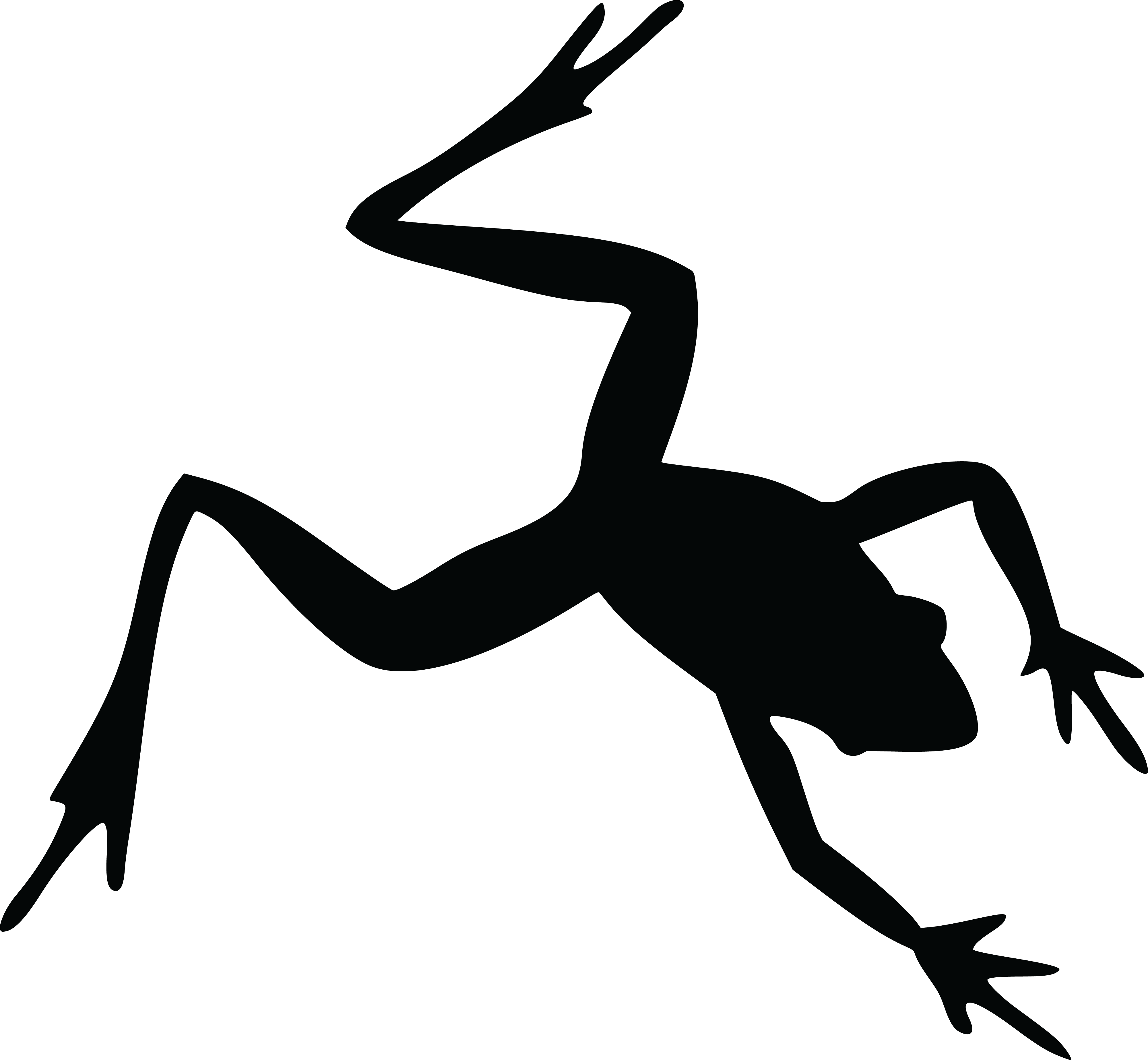 Frogs clipart toad. Frog silhouette images at
