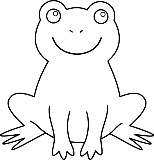 Free frog download clip. Frogs clipart outline