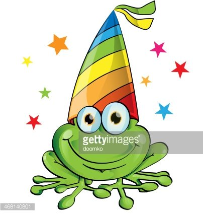 Crazy cartoon premium clipartlogo. Clipart frog party