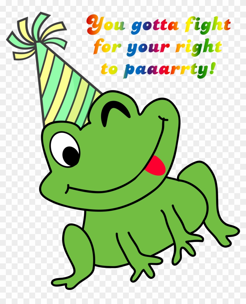 Clipart frog party. Green small free