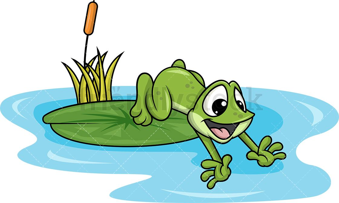 Lake clipart frog pond. Jumping into images of