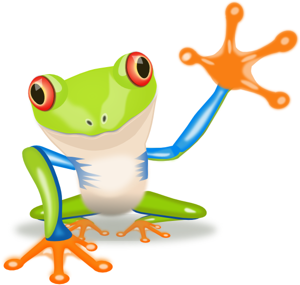 Frogs clip art waving. Frog clipart print