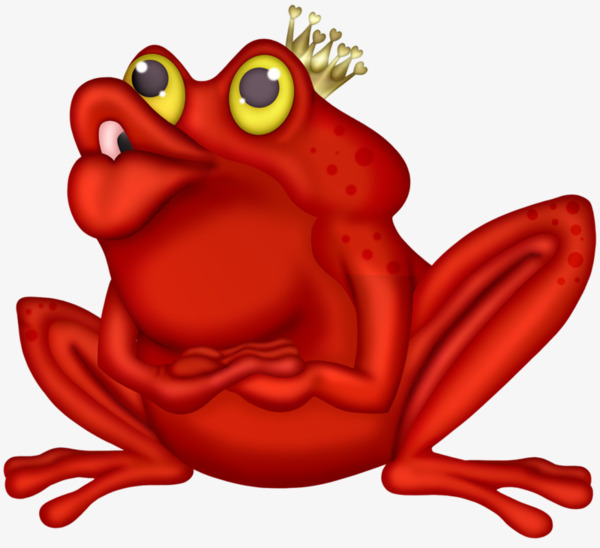 Frog portal . Frogs clipart red