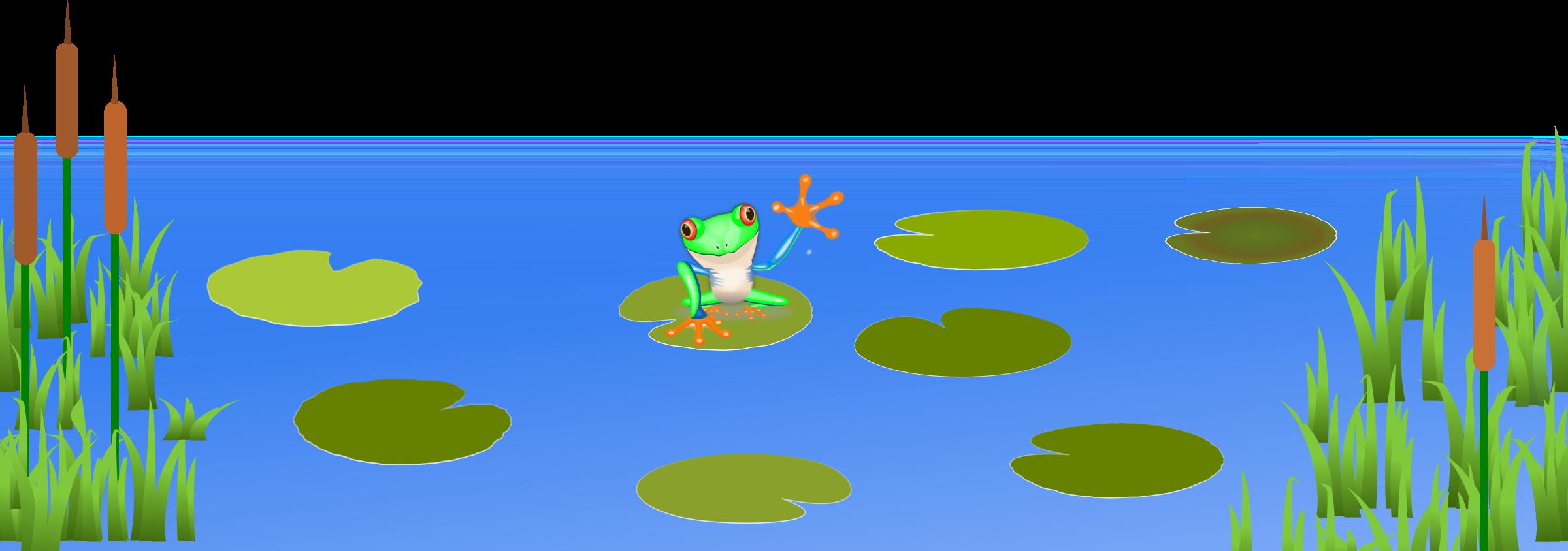 Garden clipart habitat. Lily pad pond scene