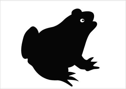 Free silhouette download clip. Clipart frog shadow